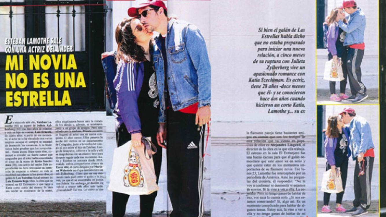 Esteban Lamothe, a los besos con su nueva novia en el barrio de Colegiales