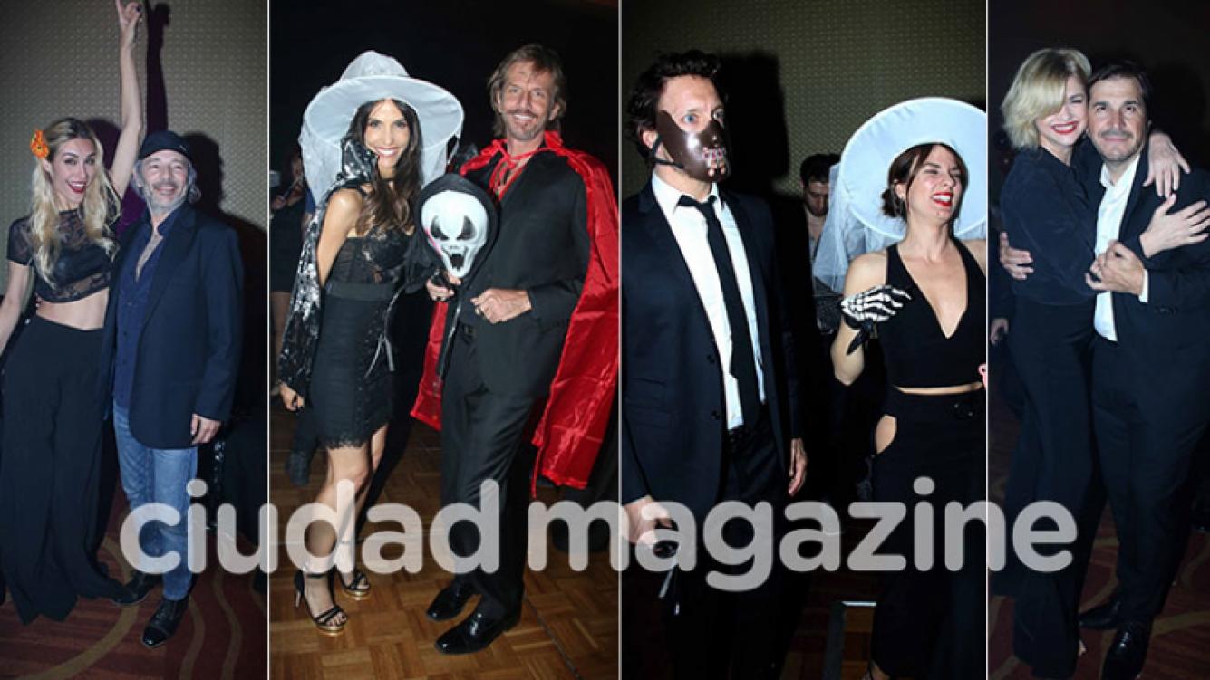 Medio centenar de famosos en la divertida fiesta de Halloween de los elencos de Faroni: noche de parejitas, dancing y disfraces. (Fotos: Movilpress)