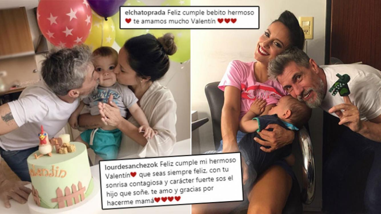 ¡Puro amor! Lourdes Sánchez y el Chato Prada celebraron el cumpleaños de Valentín.