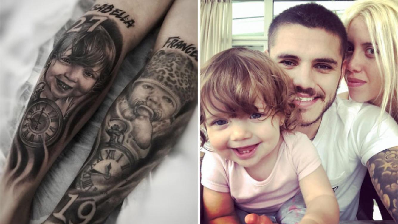 El enorme tatuaje de Mauro Icardi dedicado a su Isabella: Cumplió 1 añito y ya la tengo en mi piel