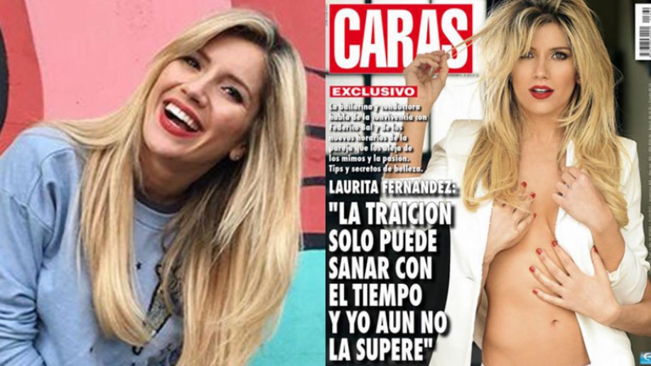 Laurita Fernández se tomó con humor su última tapa (Fotos: Instagram y Caras).
