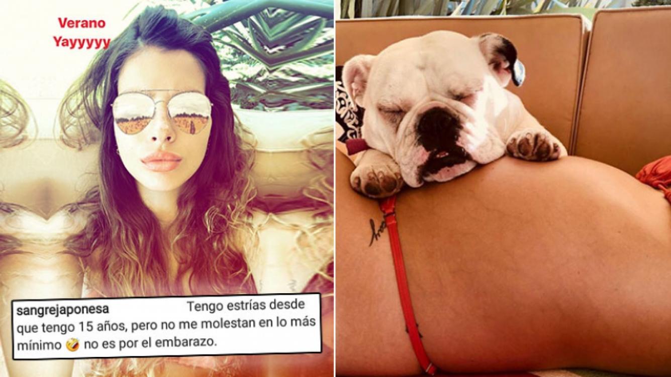 ¡Mujer real! China Suárez, tierna foto de su panza embarazada y fuerte mensaje contra las críticas.