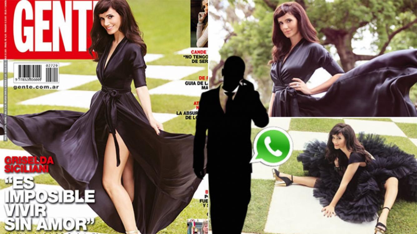 Griselda Siciliani reveló que los hombres la invitan a salir por WhatsApp (Foto: revista Gente)