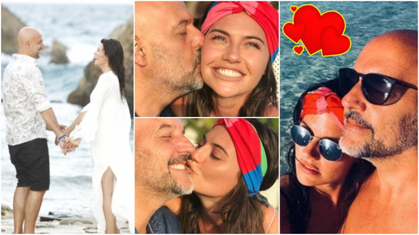 El romántico álbum de vacaciones del Pelado López y Jujuy en Aruba (Fotos: Instagram)