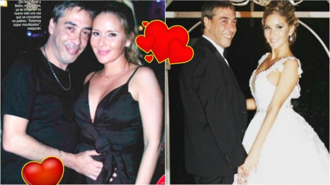 René Bertrand y Belén Giménez se casaron hace 5 meses, tras 9 años de noviazgo. (Fotos: revista Paparazzi y archivo Web)
