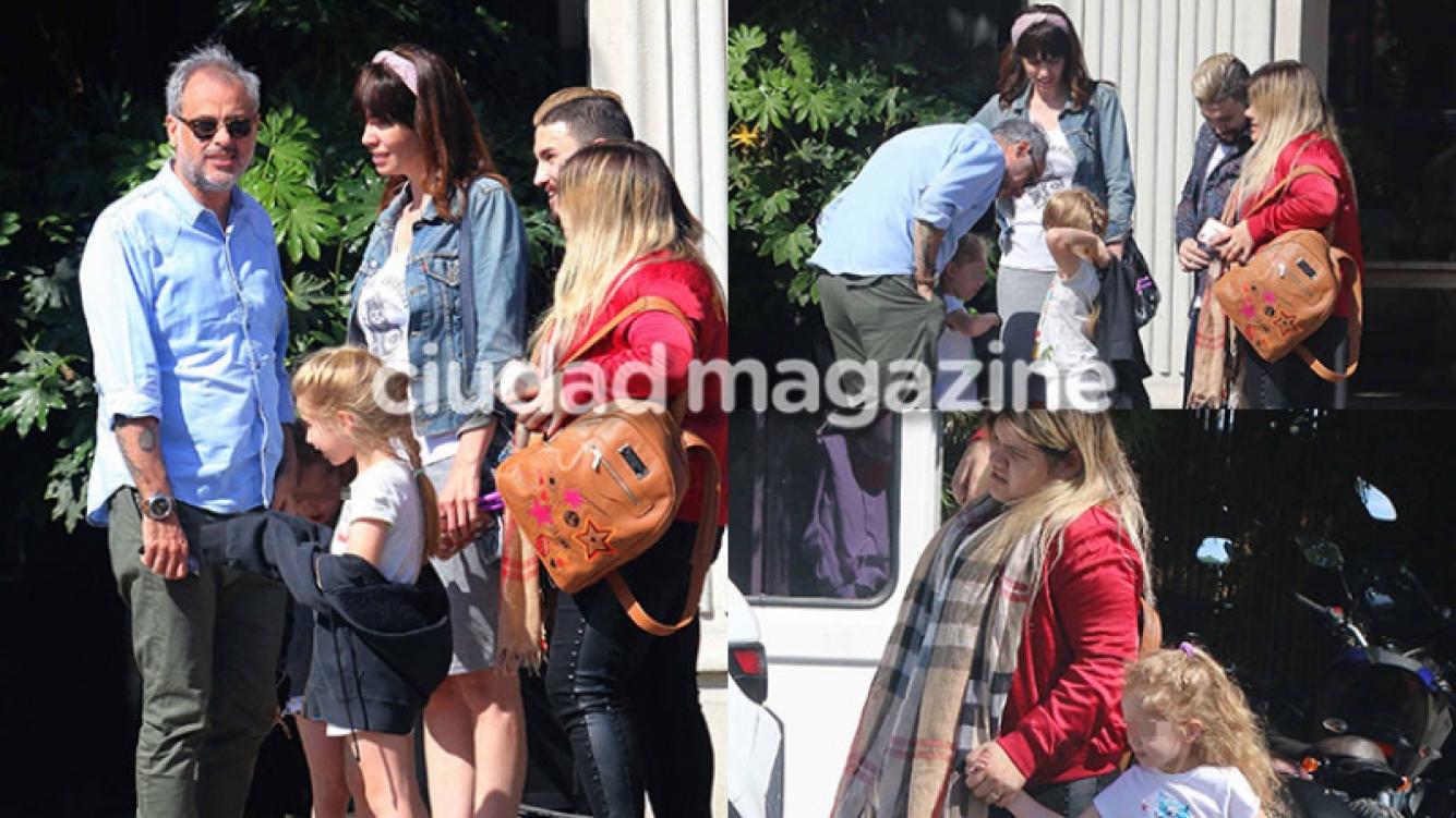 Jorge Rial y Romina Pereiro almorzaron junto a las hijas de ambos: mirá el álbum íntimo de su salida