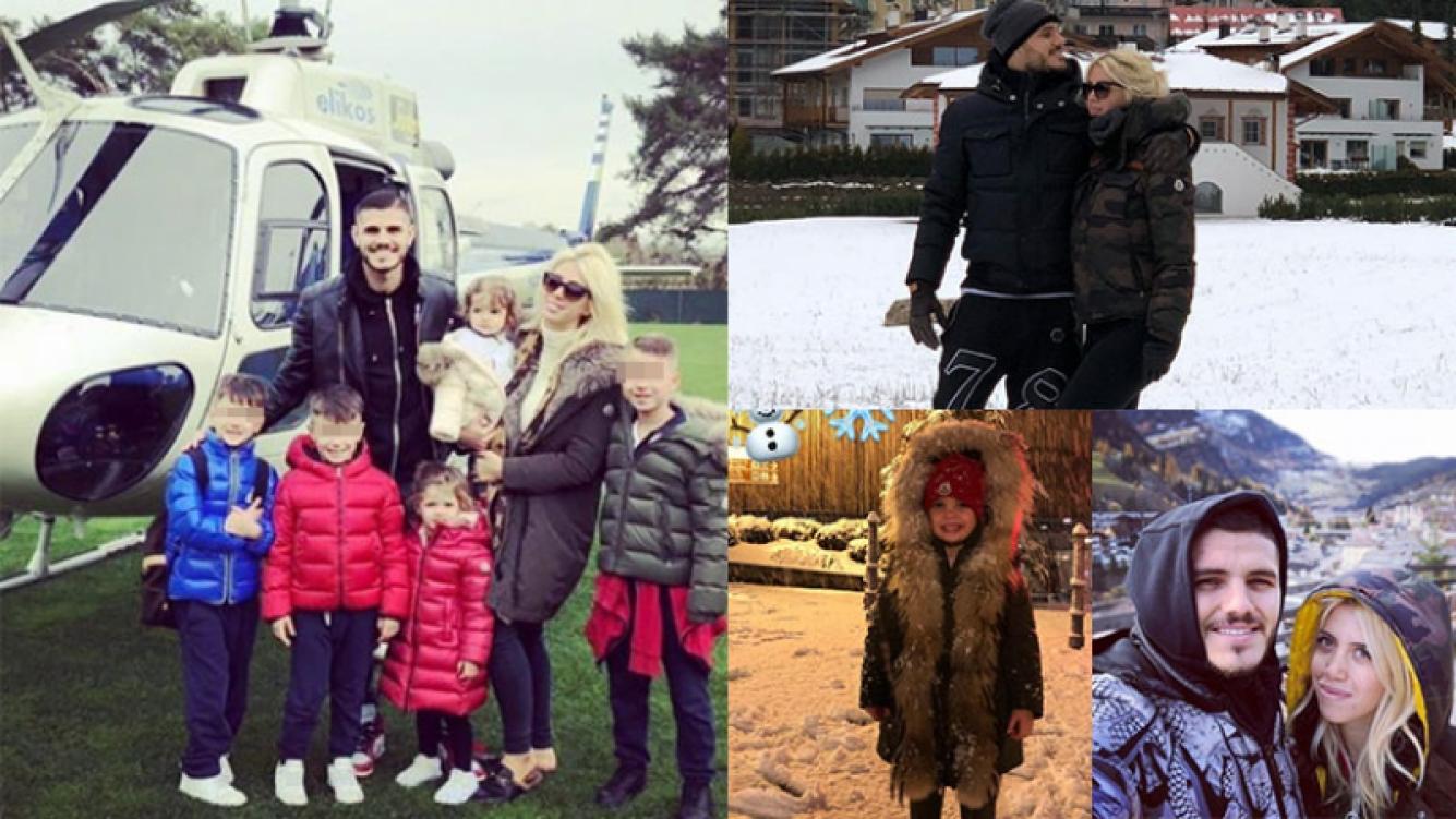 Las increíbles vacaciones de Wanda Nara y Mauro Icardi en la nieve: amor, juegos y viaje en helicóptero