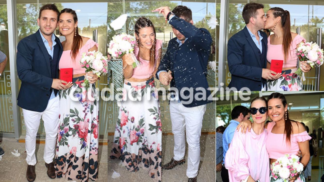 Mica Vázquez se casó con Federico Larroca (Fotos: Movilpress).