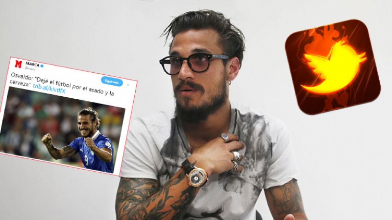 Daniel Osvaldo y mensaje muy caliente en Twitter