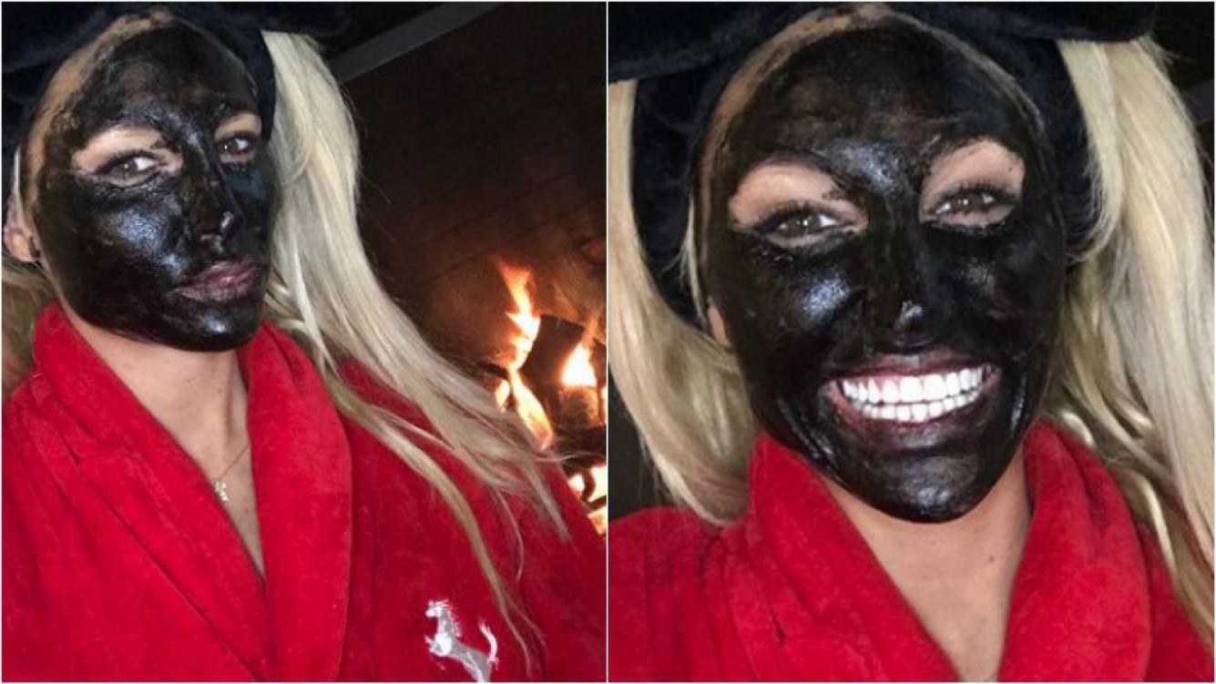 Las selfies de Vicky Xipolitakis haciéndose una mascarilla de barro durante Día de Acción de Gracias
