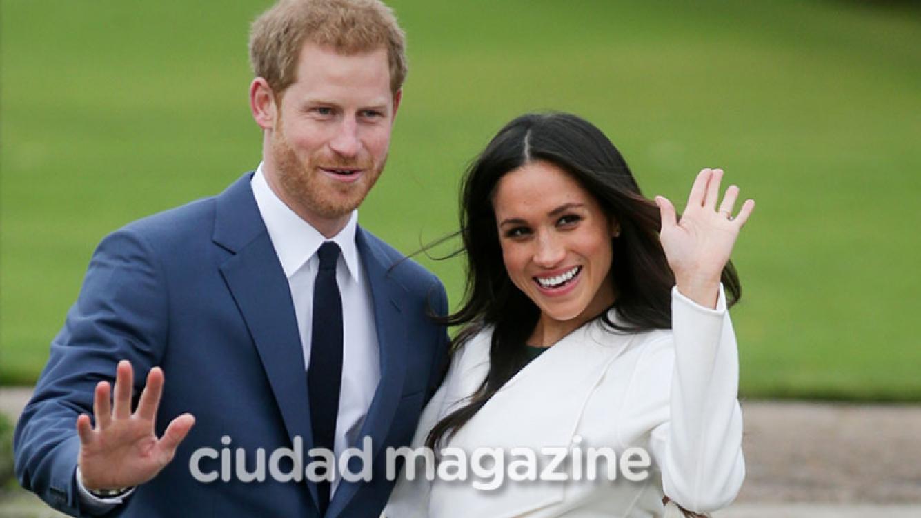 El príncipe Harry y su prometida, Meghan Markle, tras el anuncio de boda (Fotos: AFP).