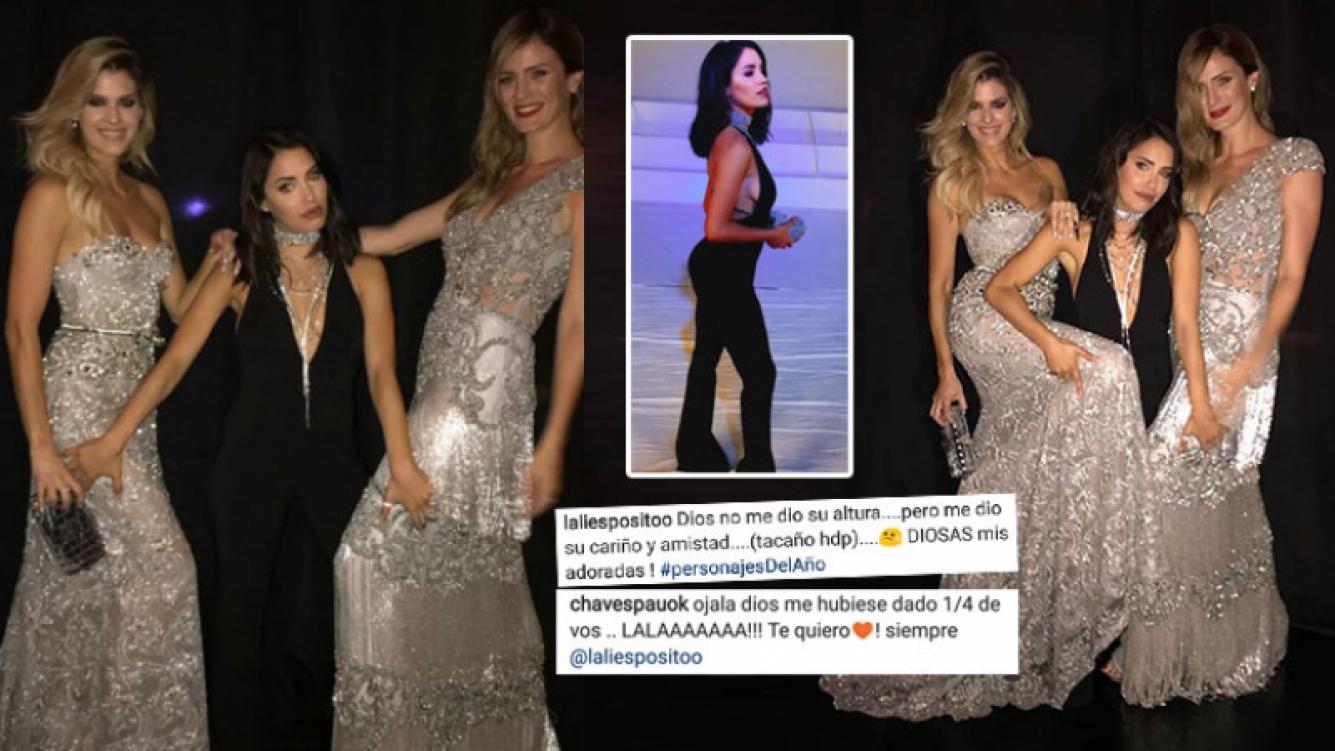 La pícara foto de Lali, comparando su estatura con la de Paula Chaves y Mery del Cerro: Dios no me dio su altura,...