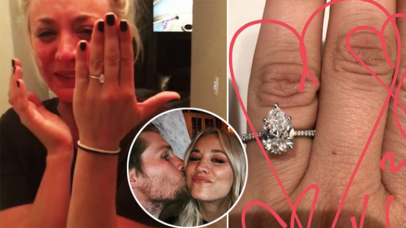 Kaley Cuoco se comprometió con Karl Cook.