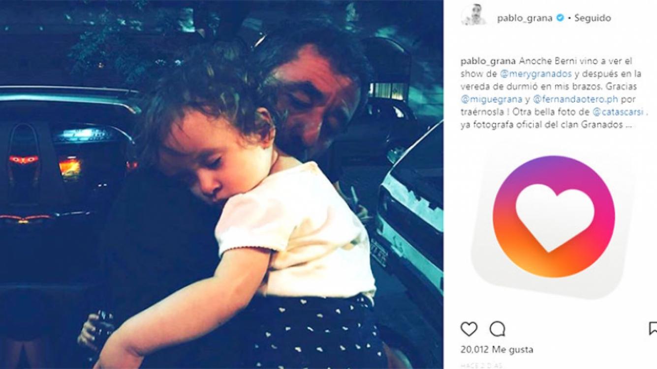 ¡Abuelo baboso! La tierna foto de Pablo Granados y su nieta, Bernardita.