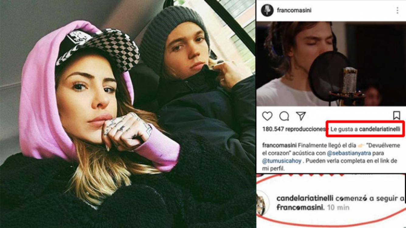 Cande Tinelli volvió a seguir y likear a Franco Masini en Instagram. Foto: Instagram.