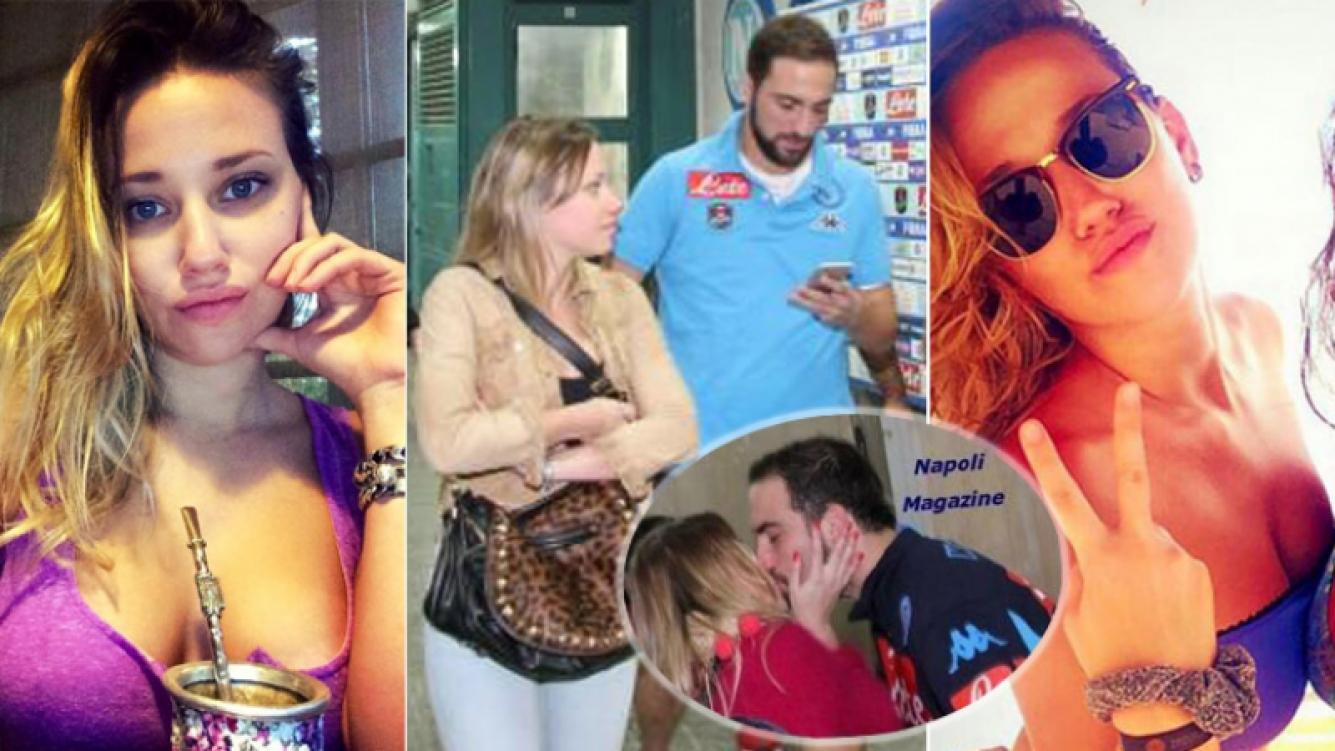 El Pipita Higuaín conoció a Lara cuando vivía en Madrid. Y el romance se afianzó en los últimos dos años, ya en Italia. (Fotos: Napoli Magazine y Facebook)