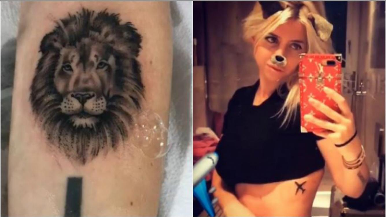 Wanda y el motivo de sus significativos tattoos de un avión y un león