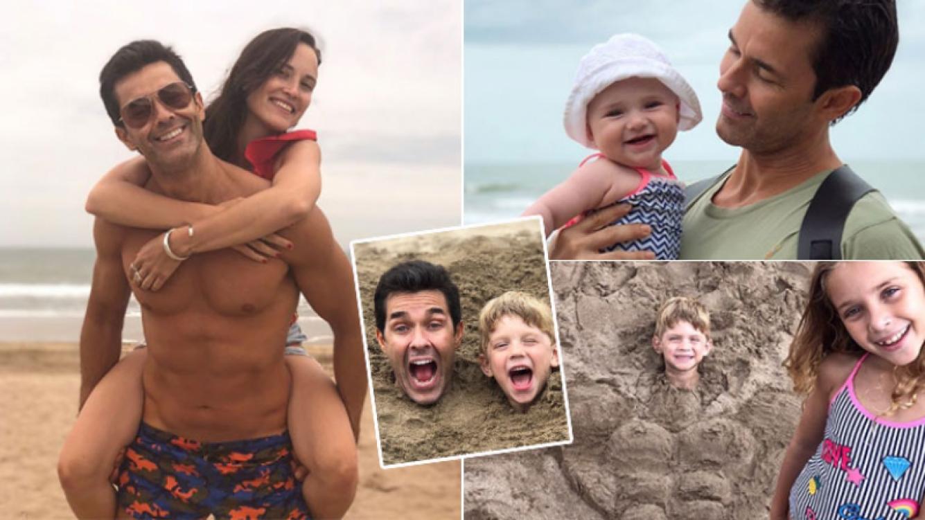 El divertido álbum de las vacaciones de Mariano Martínez con su familia en la playa: Mi mundo, mi todo