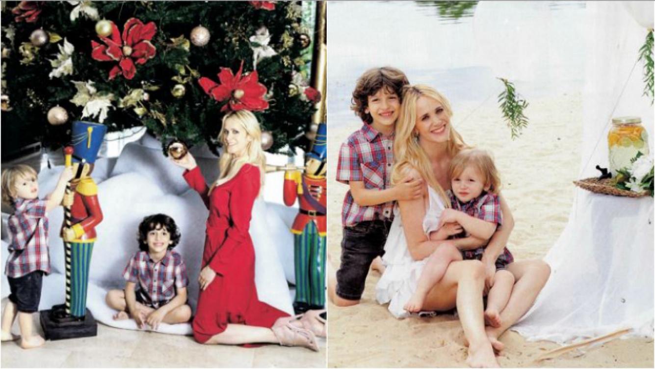 La producción navideña de Julieta Prandi con sus hijos: Adoro ser la anfitriona y siempre procuro que en la mesa...