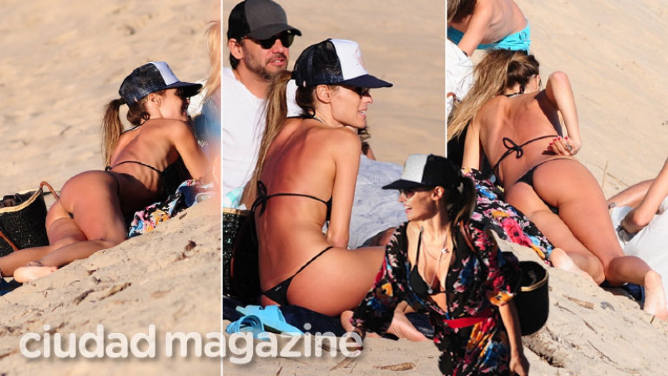¡Sin Photoshop! Pampita, relax en bikini en las playas de Punta del Este. (Foto: GM Press)