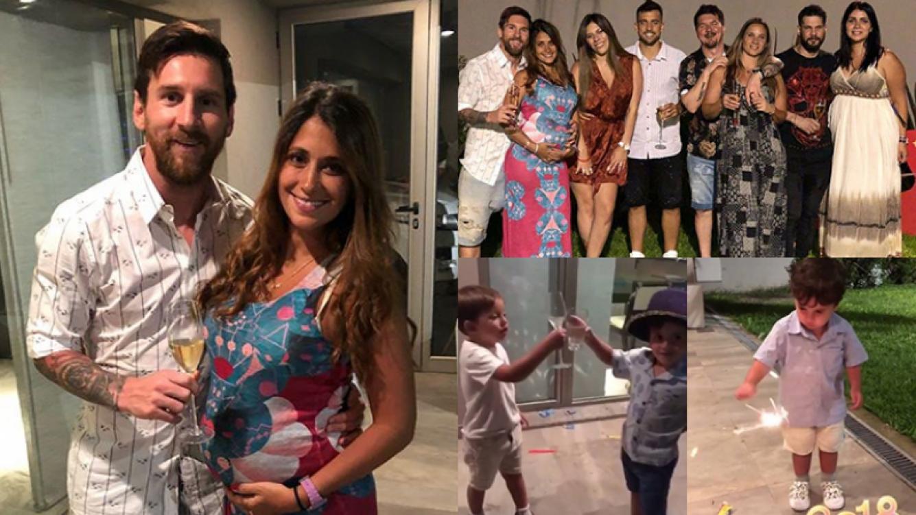 Lionel Messi festejó Año Nuevo en Rosario con su familia: ¡mirá la súper pancita de 7 meses de Antonela Roccuzzo!