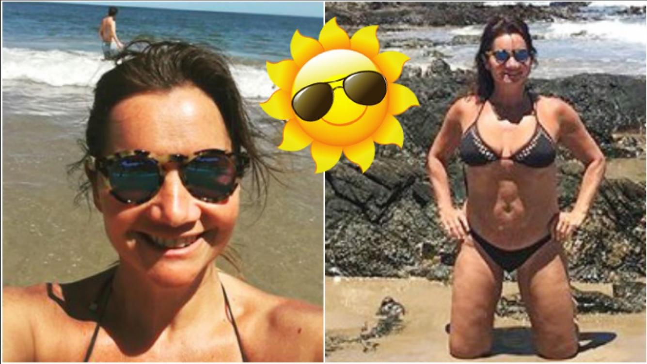 La foto en bikini de Nancy Pazos en sus vacaciones en Punta del Este (Fotos: Instagram)