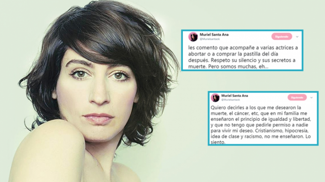 Muriel Santa Ana revolucionó Twitter por un comentario sobre el aborto