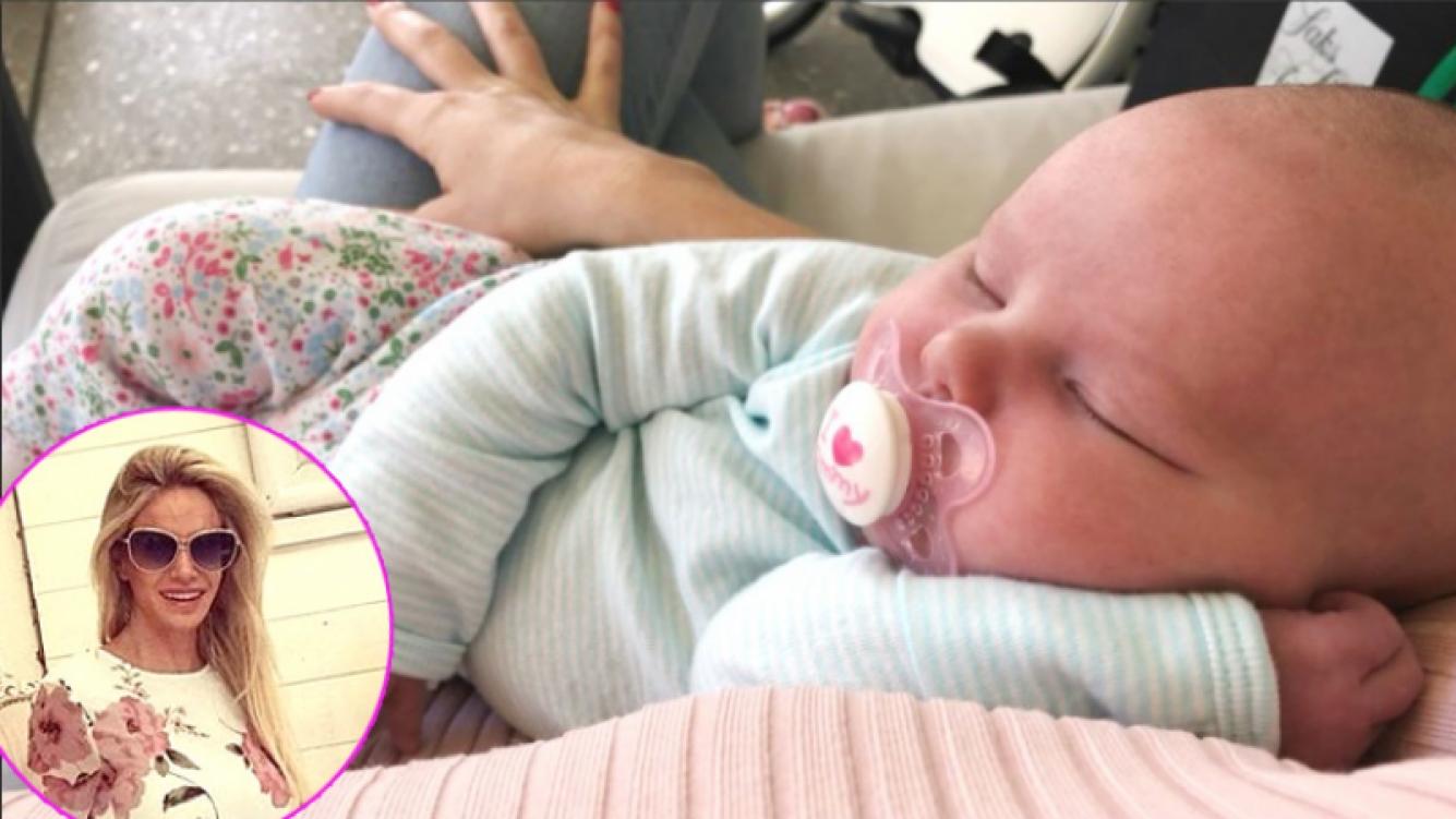 Luciana Salazar publicó una foto de su beba recién nacida tras las críticas por su reality (Foto: Twitter e Instagram)