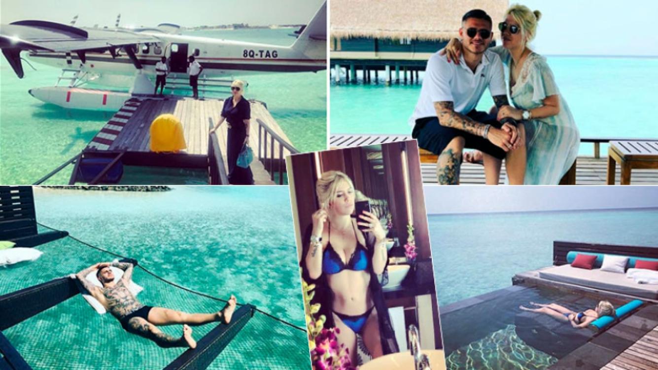 Las paradisíacas vacaciones de Wanda Nara y Mauro Icardi