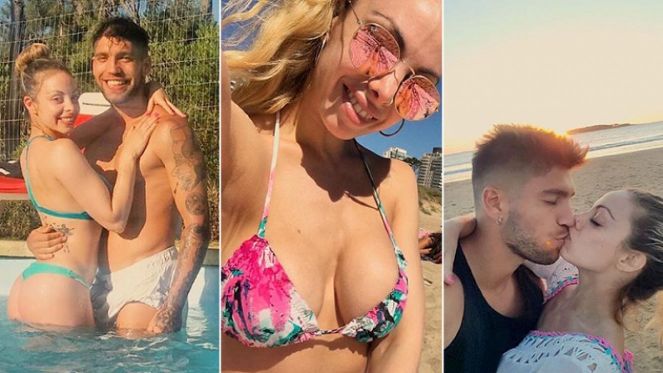 Gisela Bernal y Eros Medaglia, enamorados en Punta del Este.