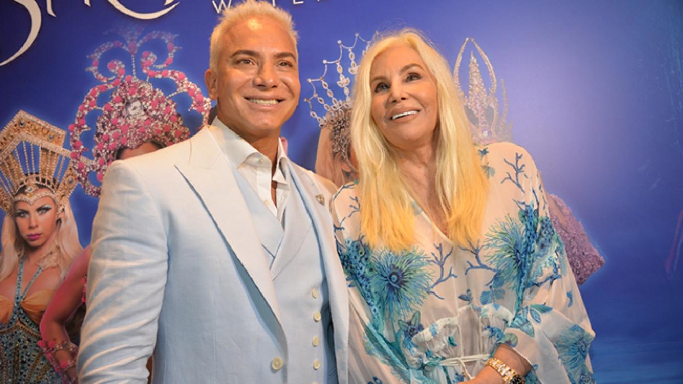 Flavio Mendoza celebró junto a Susana Giménez el éxito de Stravaganza.