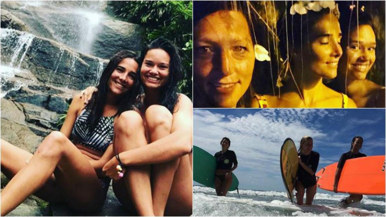 Las vacaciones de Juana Viale y su hermana Manuela en Brasil: Pequeños lindos momentos