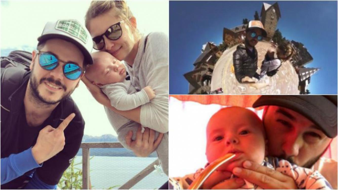 Las primeras vacaciones familiares de Nicolás Magaldi en el sur con su hijo y su novia: Al infinito y más allá