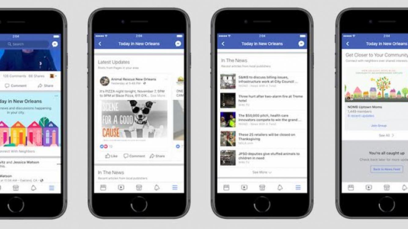 Facebook activará una sección especial para noticias de cada ciudad