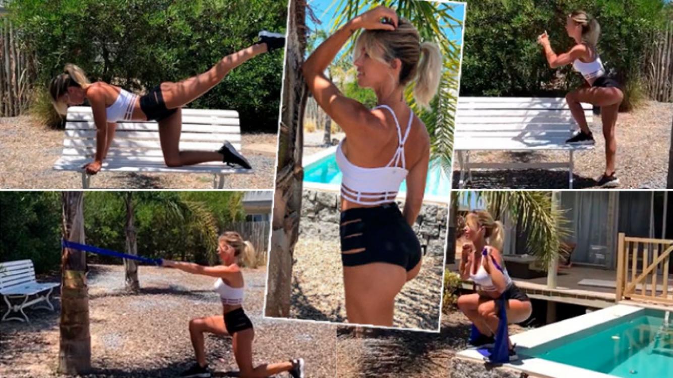 La rutina fitness de Rocío Guirao Díaz en Punta del Este