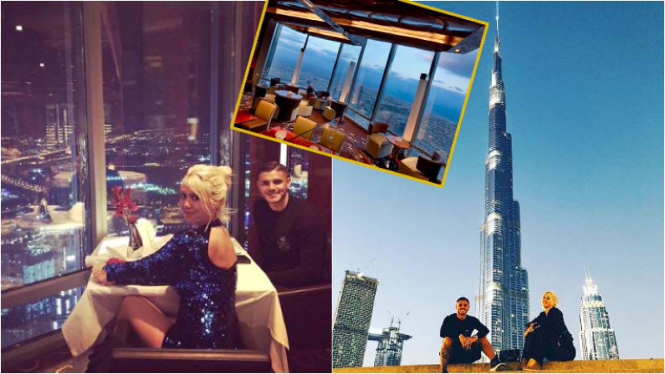 Wanda Nara y Mauro Icardi, en uno de los restaurantes más exclusivos… ¡en un piso 123 del rascacielos más alto del...