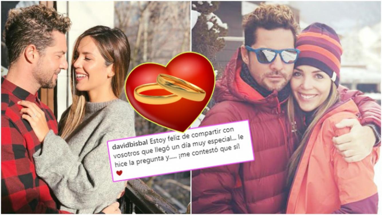 David Bisbal anunció su casamiento con Rosanna Zanetti, tras casi 2 años de relación (Fotos: Instagram)
