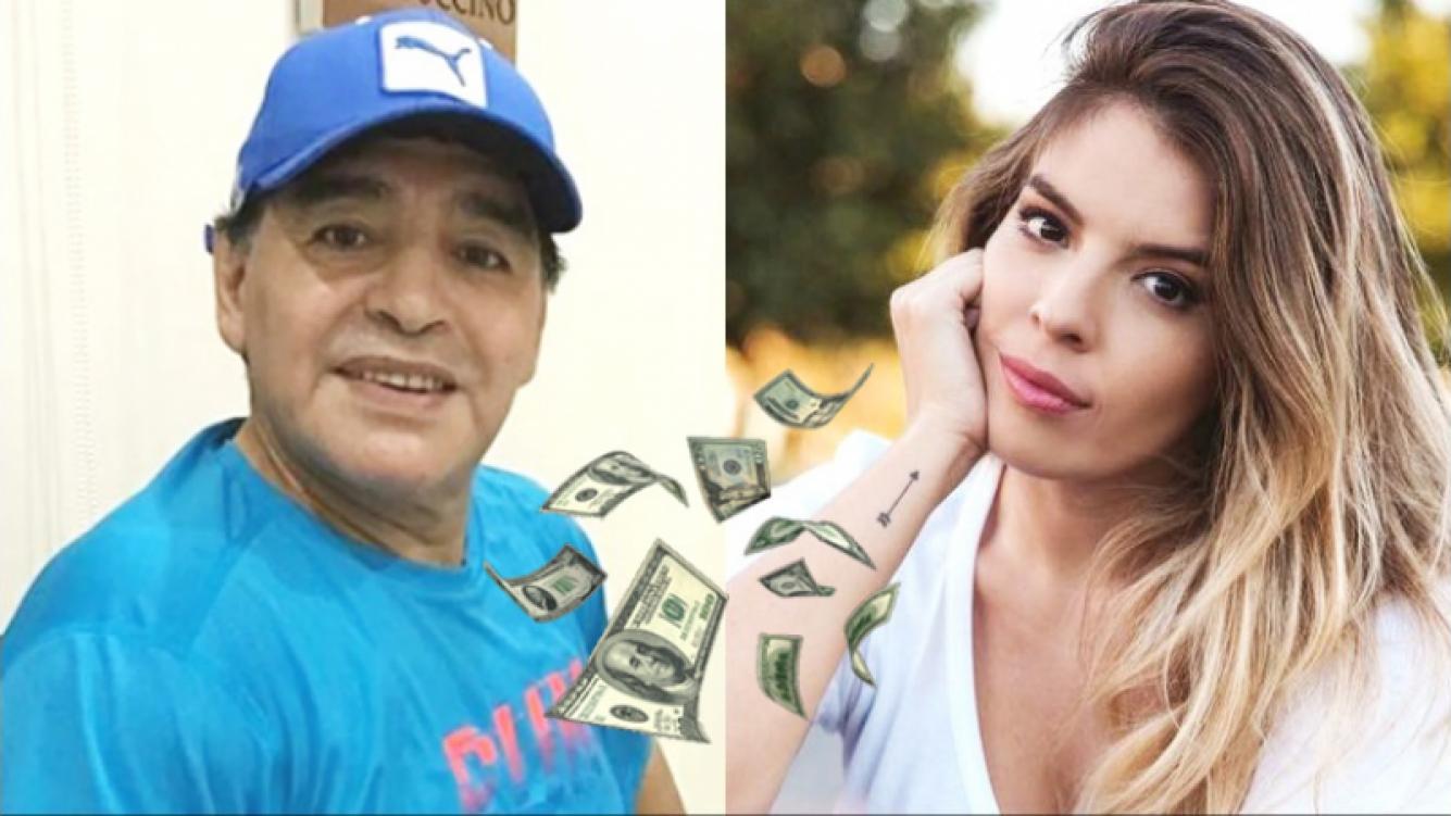 Diego Maradona le habría prometido un millón de pesos a Dalma como regalo de boda