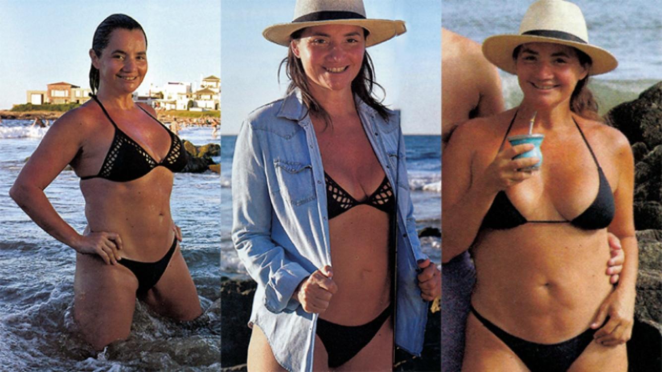 Nancy Pazos, sexy en las playas de Punta del Este (Fotos: revista Pronto).