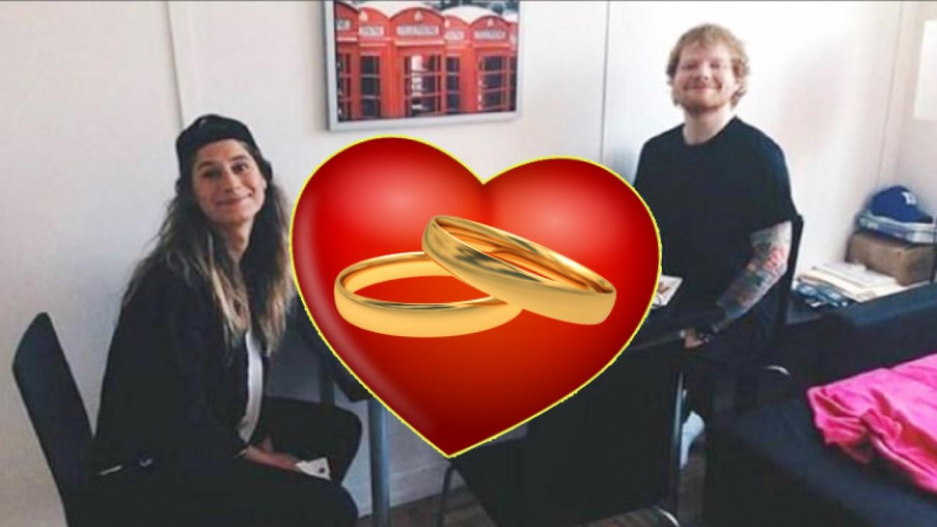 El cantante británico Ed Sheeran anuncia que se compromete con excompañera