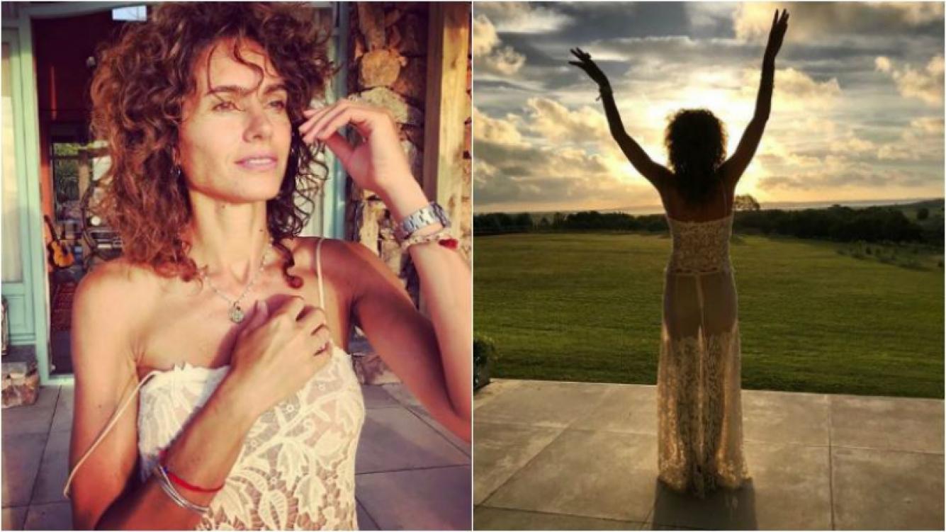 Florencia Raggi y sus fotos muy sexies con un vestido con transparencias: Gracias por esta etapa