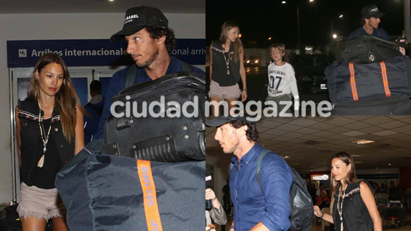 Pampita y Pico Mónaco, juntos en el aeropuerto tras su reconciliación (Fotos: Movilpress).