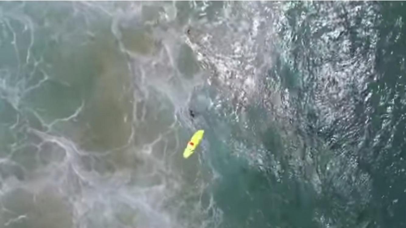 Dos bañistas salvaron sus vidas gracias a la ayuda de un drone