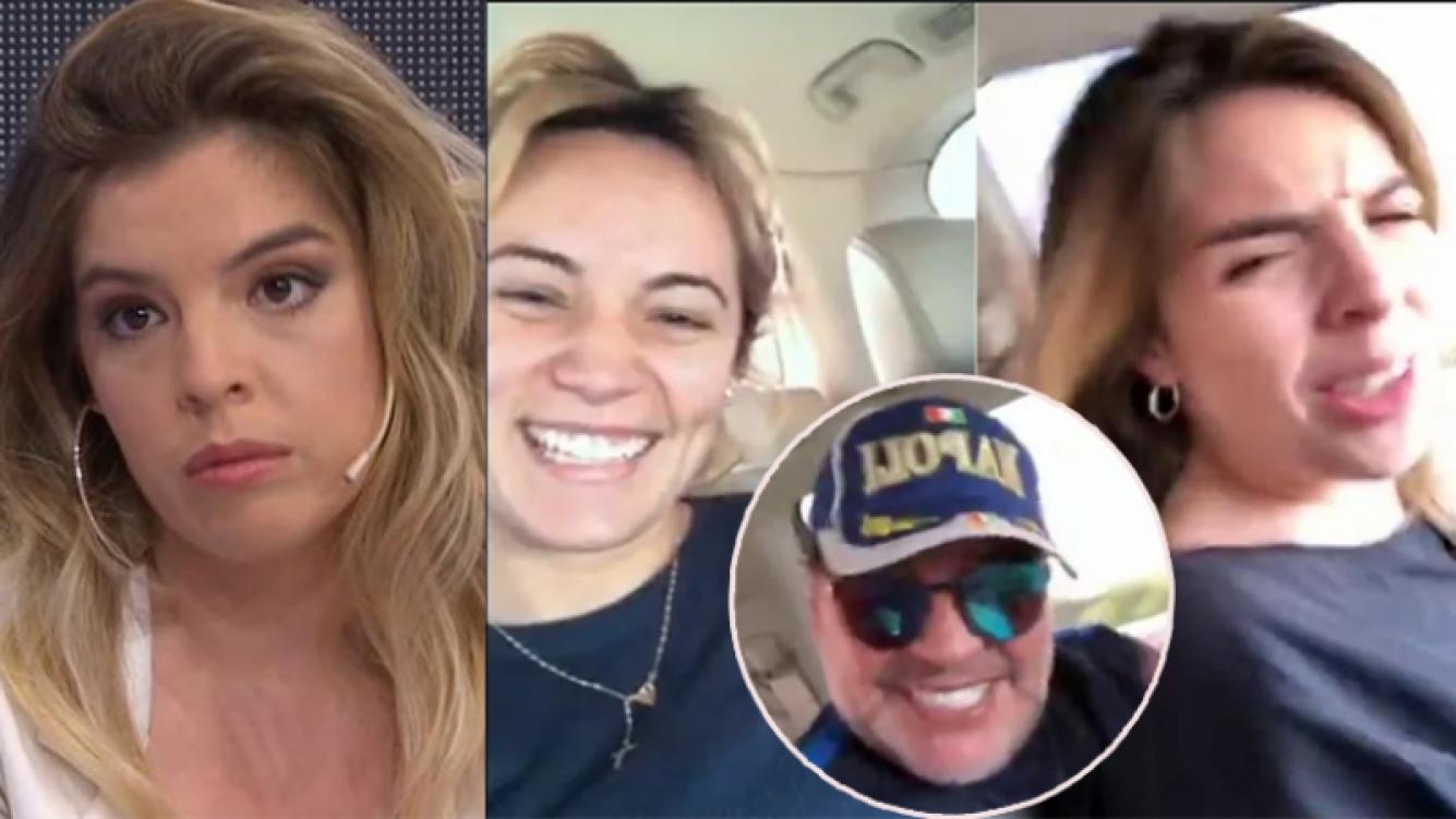 Dalma Maradona, enojada tras el video con su papá y Rocío Oliva.
