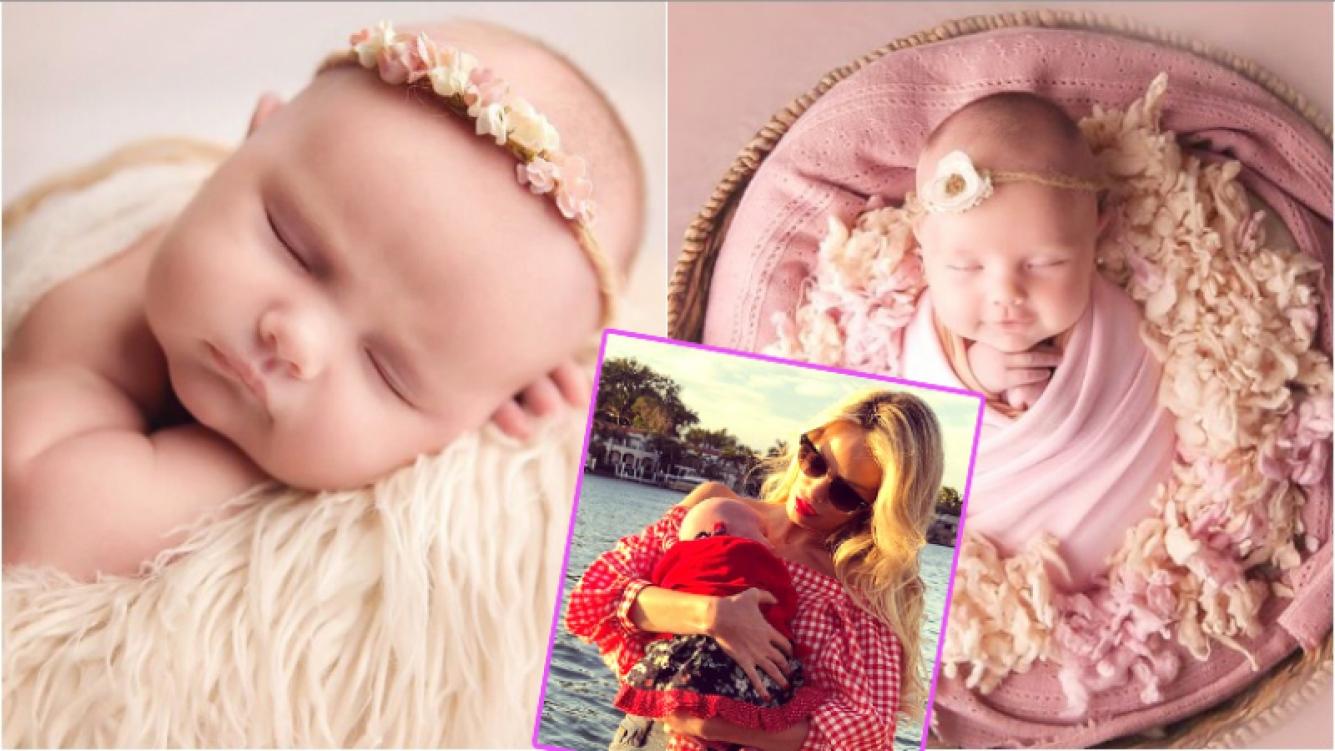 La tierna producción de fotos de Matilda, la hija de Luciana Salazar, a un mes de su nacimiento (Fotos: Instagram)