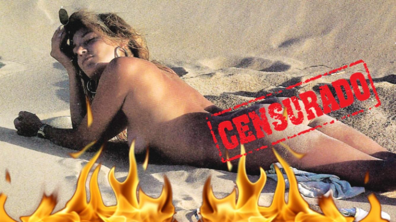 El desnudo total de Marian Farjat en Punta del Este (Foto: revista Pronto)