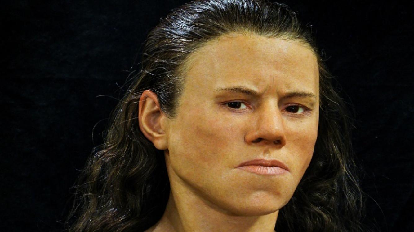 Científicos reconstruyeron el rostro de una mujer de la Edad de Piedra