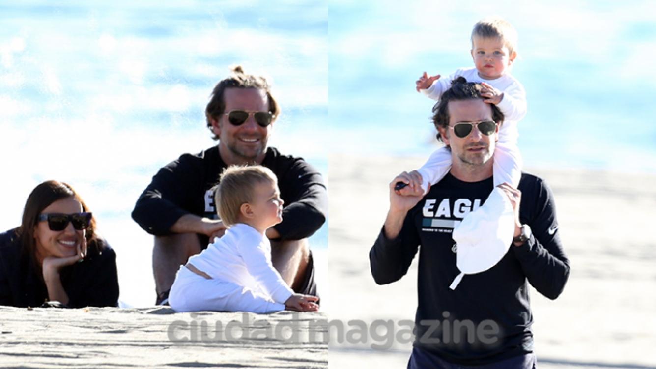 Bradley Cooper e Iriana Shayk junto a su beba Lea (Fotos: Grosby Group).