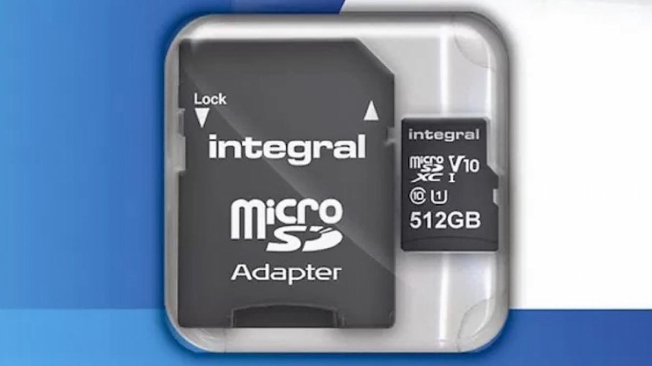 Llegó la microSD con 512 GB