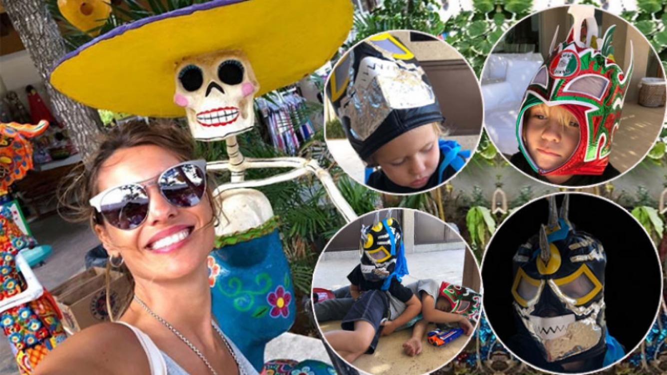 Los divertidos regalos mexicanos de Pampita para sus hijos: Beni y Beltrán, luchadores